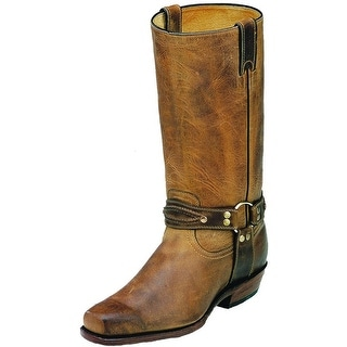 Boulet Motorcycle Boots Mens Leather Vagabond Hill Billy Golden 2019