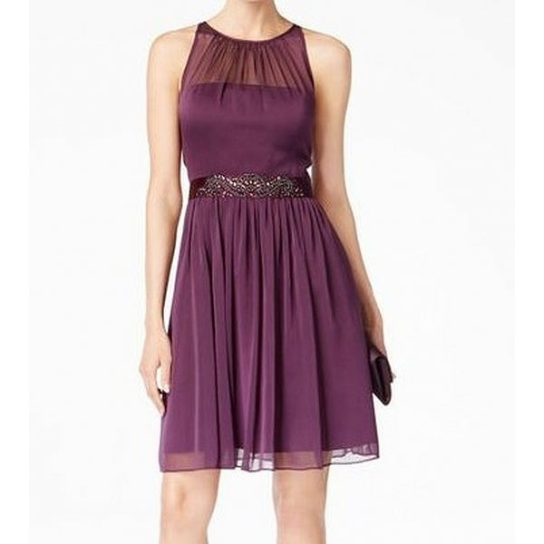813ca25c07a Shop Adrianna Papell Women s Belted Chiffon Halter Dress - On Sale - Free  Shipping Today - Overstock - 27213247