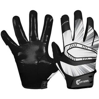 Cutters Rev Pro Receiver Gloves (Black/Large) - Black