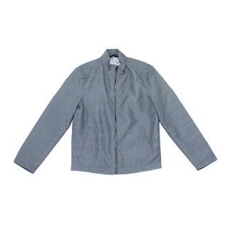 Alfani NEW Gray Heather Men's Size Small S Full-Zip Bomber Jacket