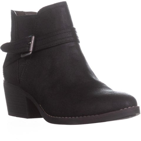 White Mountain Hadley Buckle Ankle Boots, Black
