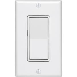 Leviton 15A Wh Sp Switch / Plate