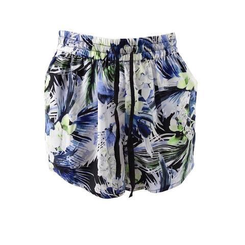Kensie Women's Tropical Blues Drawstring Shorts - Sapphire Combo