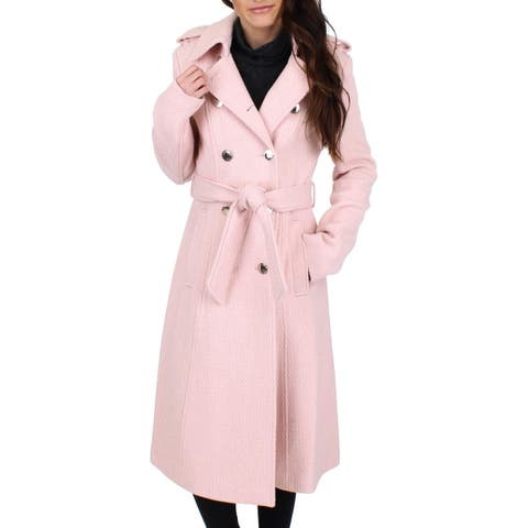 Ivanka Trump Womens Midi Coat Winter Wool