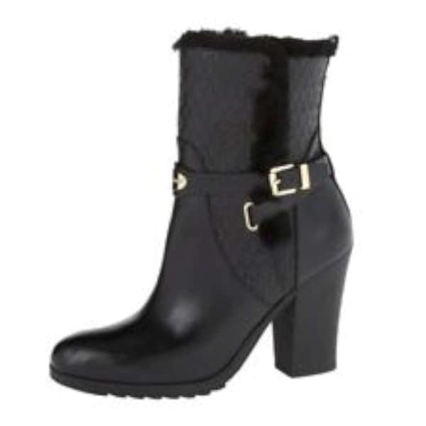 MICHAEL Michael Kors Womens Breck Ankle Boot Leather Closed Toe Ankle Fashion... - 5.5