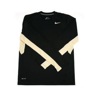 Nike Men's Black/Tan Dri-FIT Long Sleeve Tee Shirt. Medium https://ak1.ostkcdn.com/images/products/is/images/direct/72ee82c6de13b93a7be68e544de9a51aff62b974/Nike-Men%27s-Black-Tan-Dri-FIT-Long-Sleeve-Tee-Shirt.-Medium.jpg?impolicy=medium