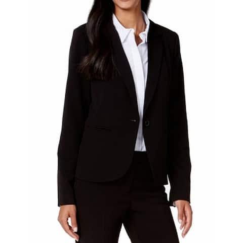 XOXO Black Womens Size XXL Single Button Solid Notch Lapel Jacket