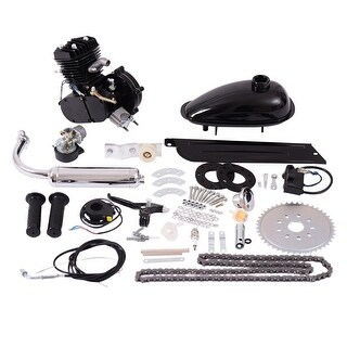 Costway 80cc 2-Stroke Bicycle Gasoline Engine Motor Kit DIY Motorized Bike Black