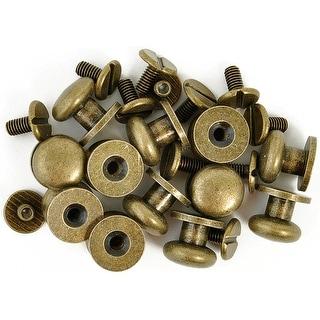 "Treasures Metal Drawer Knobs .375"" 12/Pkg-Antique Brass - GOLD"