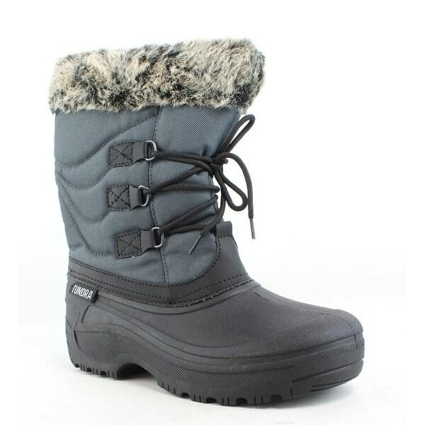 Tundra Womens Dot Grey/Black Snow Boots Size 9