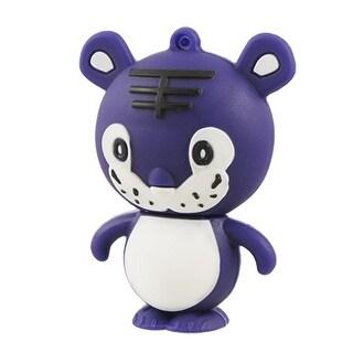 Unique Bargains Cartoon Purple White Tiger Shaped USB 2.0 TF Card Reader