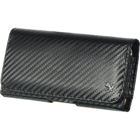 Secure Magnetic Leather Holster Case for 6.5 inch Mobile Phones