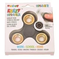Krazy Spinner Boys Girls Black Gold Fidget Spinner Concentration Toy