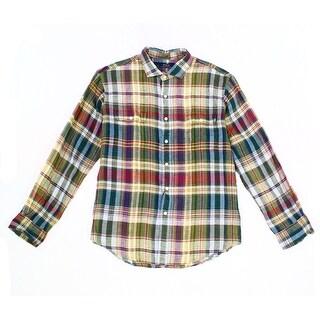 Polo Ralph Lauren NEW Green Mens Size 2XL Plaid Button Down Shirt