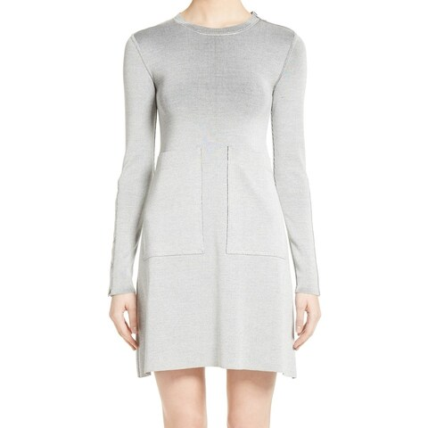 Stella McCartney Gray Women's Size 8 IT 42 Sweater Dress Silk