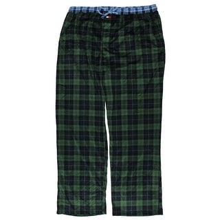 Tommy Hilfiger Mens Fleece Plaid Lounge Pants