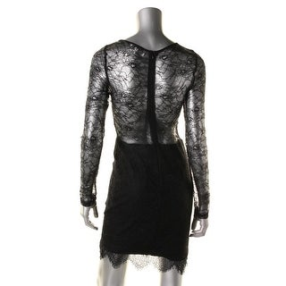 Lucy Paris Womens Lace Overlay Eyelash Party Dress