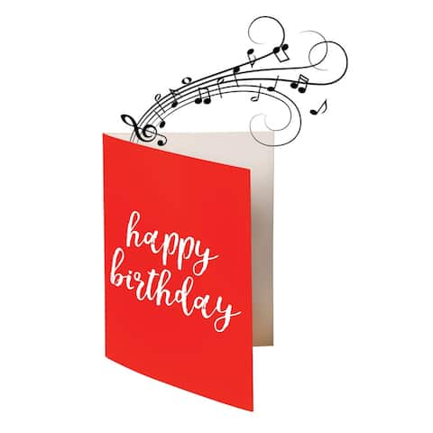 Endless Singing Birthday Song Joke Card - Funny Electric Card - Non-Glitter - 5-x-7-inch
