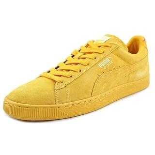 Puma Suede Classic + Men Round Toe Suede Gold Sneakers