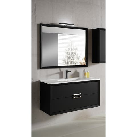 "Lucena Bath 40"" Decor Tirador Vanity with Ceramic Sink"