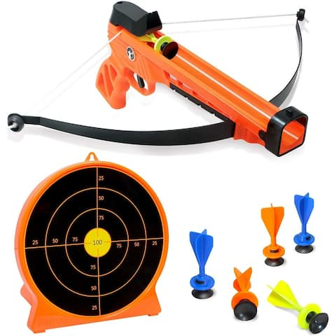 ArmoGear Kids Archery Set with Bow and Arrows - Safe & Sturdy Blaster Bow, 6 Suction Darts & Stand-Up Target - Great for Boys