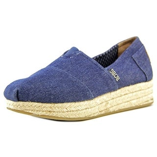 Bobs by Skechers Moments   Round Toe Canvas  Espadrille
