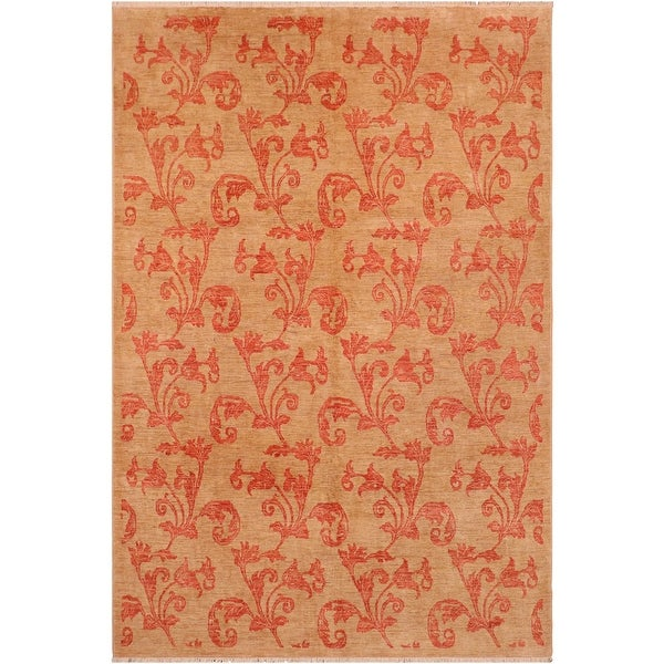 """Shabby Chic Ziegler Deana Hand Knotted Area Rug -8'1"""" x 9'9"""" - 8 ft. 1 in. X 9 ft. 9 in.. Opens flyout."""