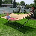 Sunnydaze Large 2-Person Rope Hammock with Spreader Bar & Hammock Stand - Thumbnail 20