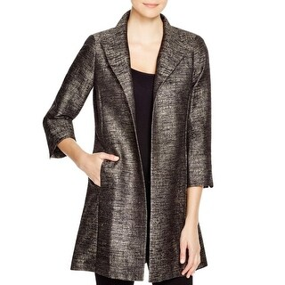 Eileen Fisher Womens Top Coat Jacquard High Collar