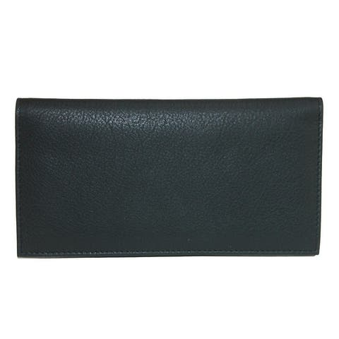 CTM® Leather Solid Color Checkbook Cover - one size