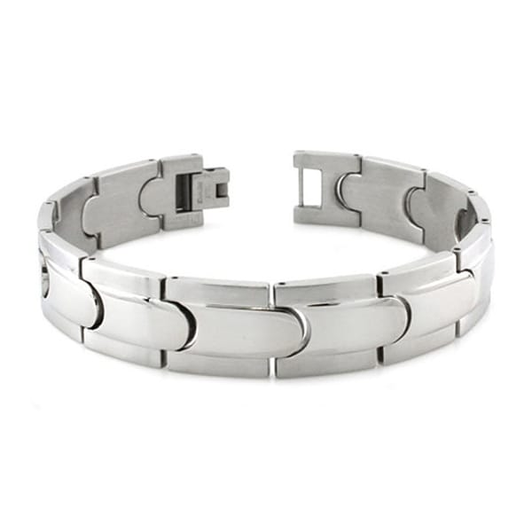 Stainless Steel Spaceship Link Bracelet - 8.5 inches