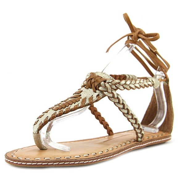 Dolce Vita Keoni Women Open Toe Synthetic Gold Sandals