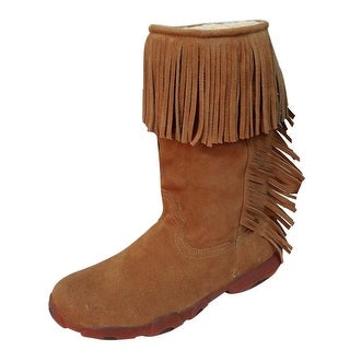 Twisted X Western Boots Womens Driving Moccasin Fringe Suede