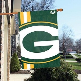Party Animal Green Bay Packers Bold Logo Banner Nfl Flag