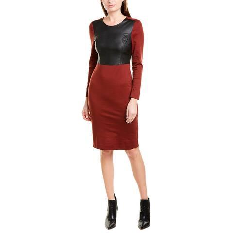 Bcbgmaxazria Mixed Media Sheath Dress