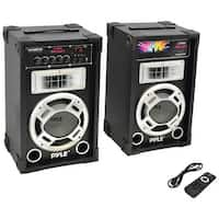 PYLE PRO PSUFM837BT Dual 800-Watt Disco Jam Powered Two-Way PA Bluetooth(R) Speaker System