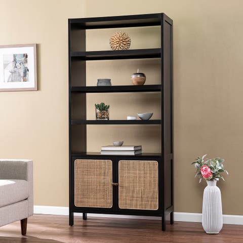 Black Wood Bookcase/Storage Shelf