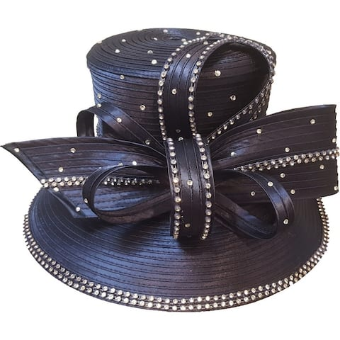 Dressy satin ribbon church hat Mothers Day or and special occasion