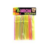 Flexible Neon Straws - Pack of 25