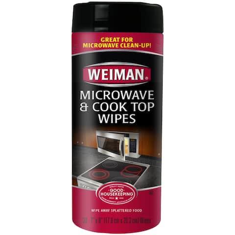 Weiman Microwave & Cook Top Wipes-30 Wipes/Pkg