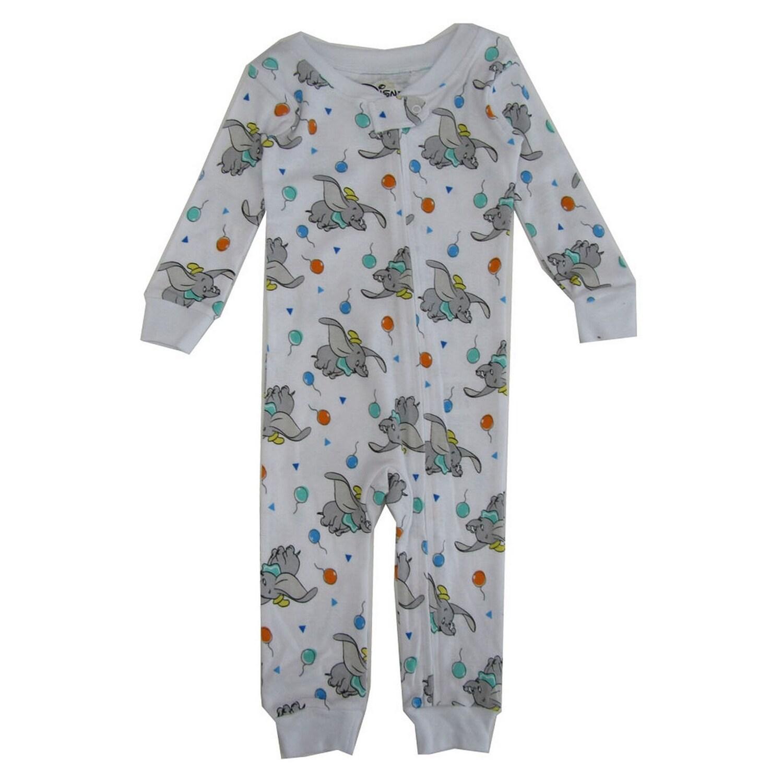 White Dream Disney Baby Unisex Infant Dumbo Cotton Non-Footed Pajama