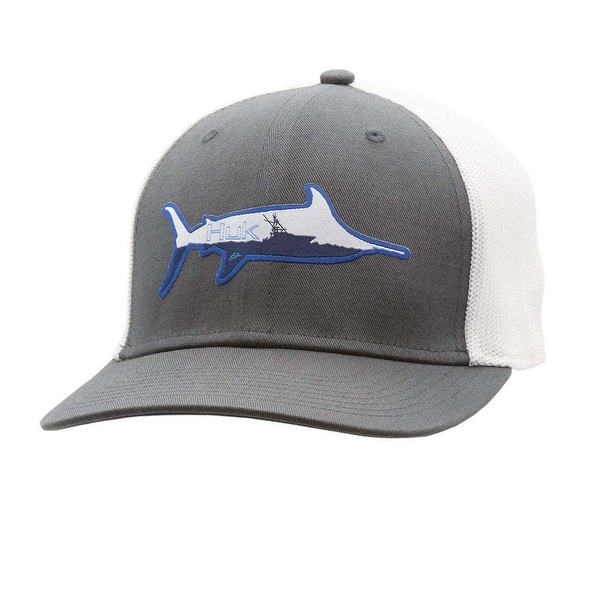 37d1ae2509e6c Shop Huk Marlin Sporty Iron Large X-Large Trucker Stretch Cap - Free  Shipping On Orders Over  45 - Overstock - 27296271