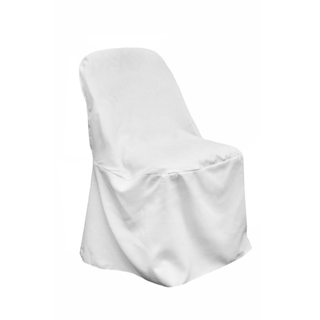 1 Pk Polyester Folding Chair Cover White Overstock 31681350