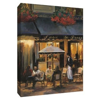 """PTM Images 9-154336  PTM Canvas Collection 10"""" x 8"""" - """"La Brasserie II"""" Giclee Couples Textual Art Print on Canvas"""