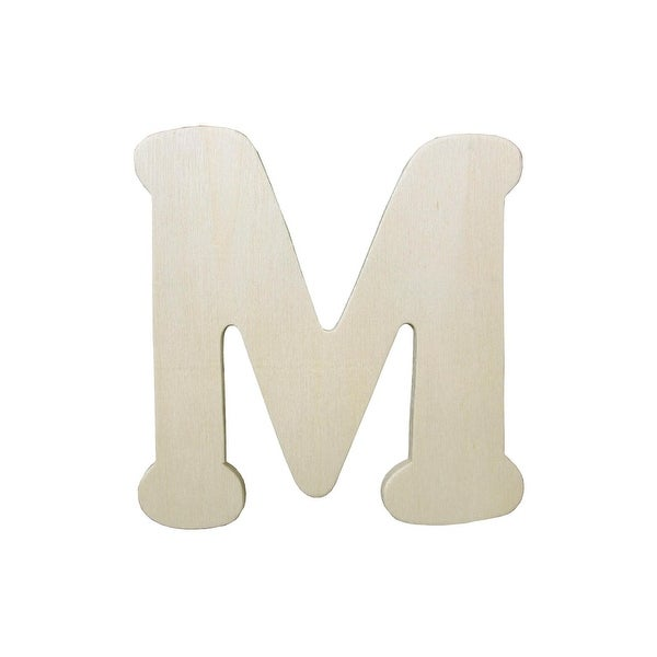 Darice Wood Shape Unfin Letter 4.25 M