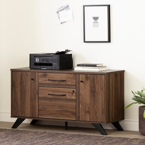 South Shore Helsy 2-drawer Credenza Cabinet with Doors