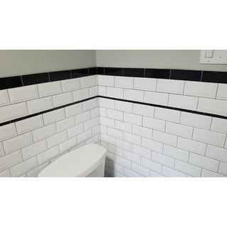quality beveled subway tile   Shop SomerTile 3x6-inch Malda Beveled Subway Glossy White ...