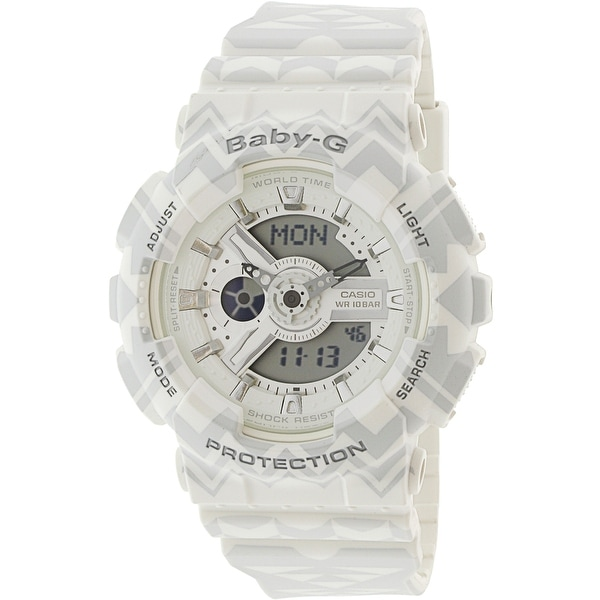 1b863664dfd Shop Casio Women s Baby G White Resin Japanese Quartz Diving Watch - Free  Shipping Today - Overstock - 18803961