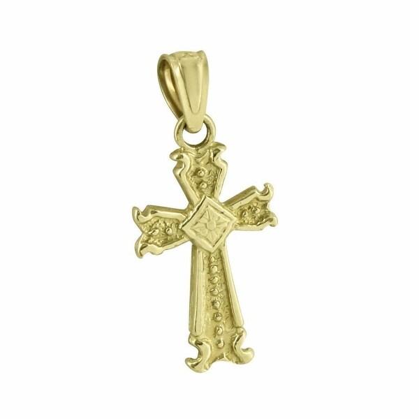 Jesus Cross Pendant 10K Real Yellow Gold Rapper Hip Hop Mens Custom