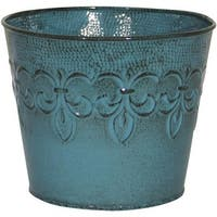 "Robert Allen 4"" Surf-Bl Metal Planter"